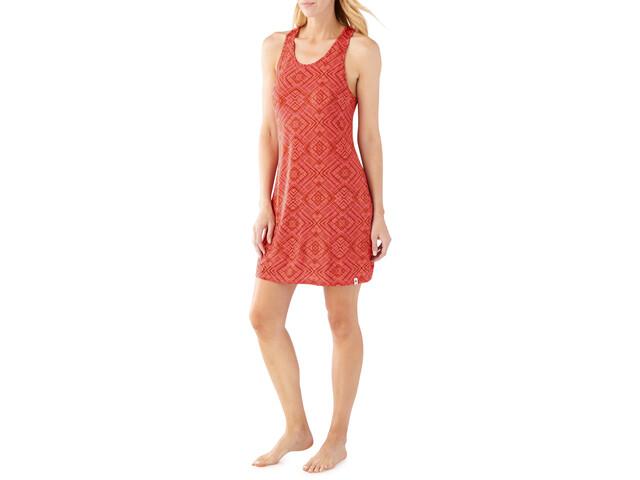 Smartwool Basic Merino 150 Pattern Dress Dam bright coral